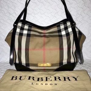 BURBERRY 2-Way Bridle House Check Canterbury Tote